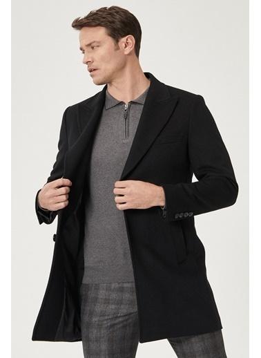 Beymen Business Standart Fit Düz Palto 4B0521100009 Siyah